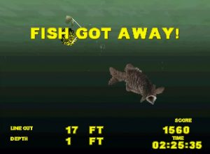 Big Bass Fishing Playstation Screen Capture