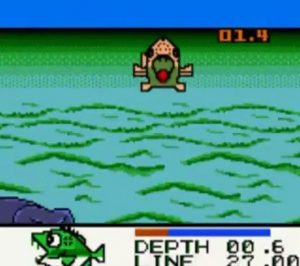 Black Bass Lure Fishing Gameboy Color Screen Capture